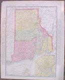 Map Rhode Island & Boston 1907 Rand McNally