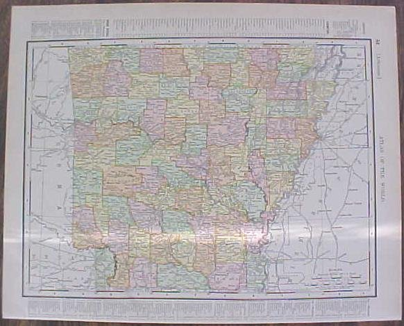 Map Arkansas & Kansas City 1907 Rand McNally on map of all georgia cities, map of colorado and nebraska borders, map of indiana area, map tilden nebraska, map of montana, map of eastern wyoming,