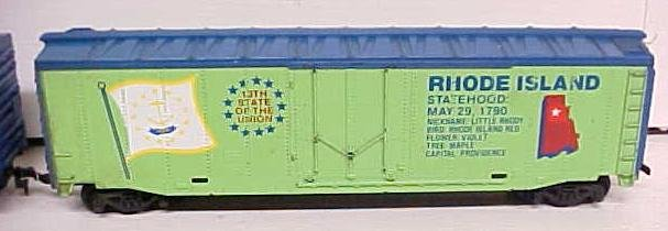 Tyco Commemorative State Box Cars Georgia Rhode Island