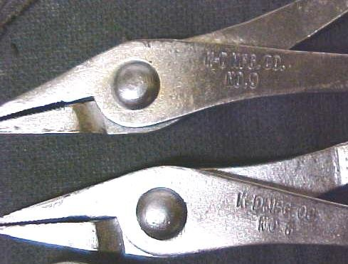 Antique K-D Mini Pliers Set & Pouch K-D No. 6, 7, 8, & 9