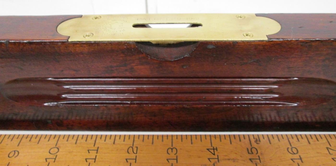 Disston Plumb Level 1912 Patent 26 inch