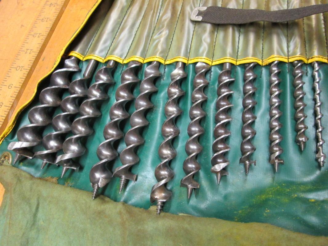 Auger Bit Set of 12 Jennings Type Spiral