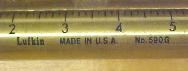 Lufkin Brass No. 590G Tank Gauging Plumb Bob /Box