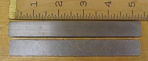 Vintage Steel Parallels Pair .34 x .61 x 5 inch Machinist