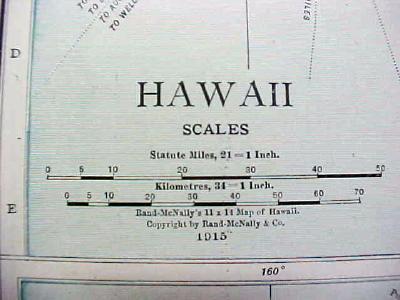 Antique Map Hawaii 1916 Nice Details & Colors