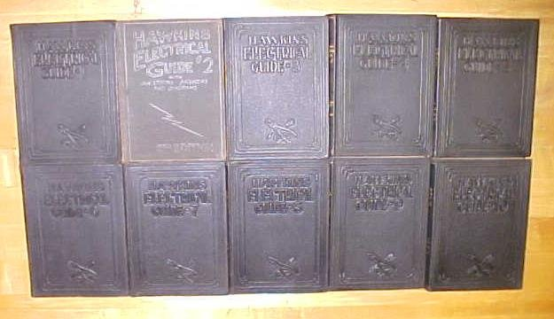 Hawkins Electrical Guide Set of 10 ca. (1923-27)