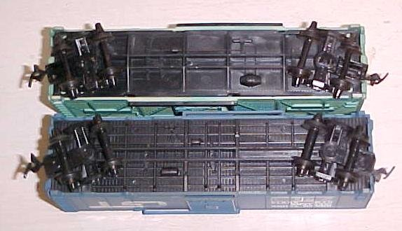 Train Cars HO Scale GT & Santa Fe (2) Box Cars
