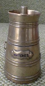 Antique Brass Match Safe Keg or Barrel Unique!