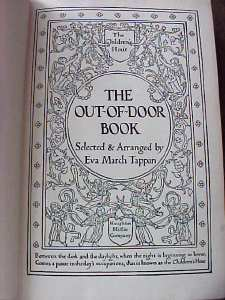 The Out of Door Book 1907 Childrens Hour
