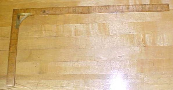 Antique Taylor's Square Wood & Brass 24 inch