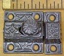 Antique Cupboard Latch Cast Iron Ornate Design