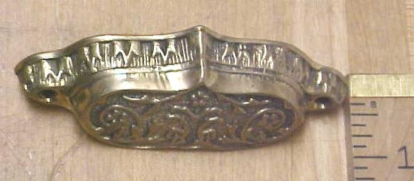 Antique Drawer/Bin Pulls Ornate Hardware Brass