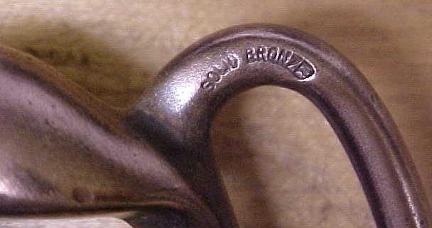 Antique Horse Harness Hook Buckle Tack Bronze