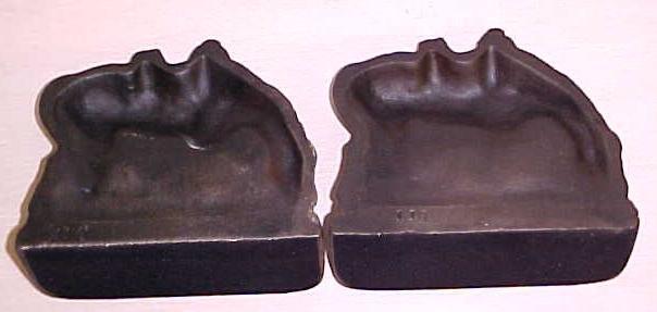Horse Bookends Cast Iron Antique Pair