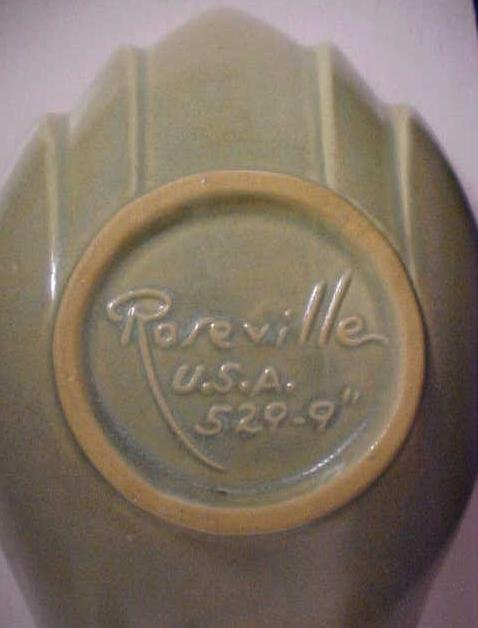 Roseville Gravy Bowl No. 529-9 Green