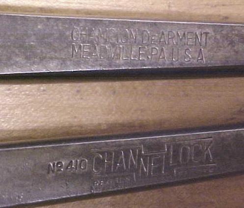 Channellock Pliers Slip Joint Champion Dearment No. 410