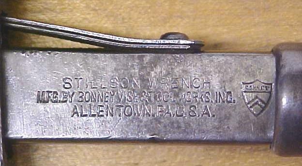 Stillson Pipe Wrench 10 inch Adjustable Bonney