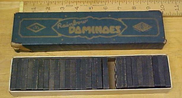 Rainbow Dominoes Vintage w/Original Box