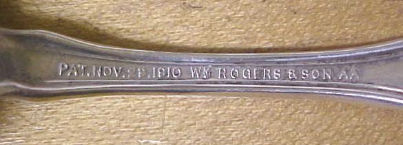 Orange Blossom Cold Meat Fork Rogers Silver Plate 1910