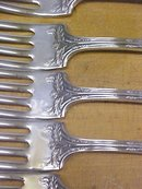 Rogers Fair Oak Dinner Forks 6 pcs. 1913 Silver Plate
