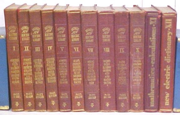 Audels New Electric Library 1929 Electrical Electricity 12 Volume Set