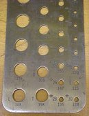 Fisher Drill Gauge CT-701 Number/Fraction