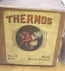 Antique Thermos Bottle Insert Early Box label