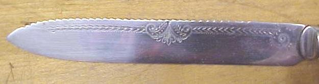 Abbey Letter Opener Mother of Pearl Silver Plate Victorian