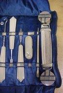 Manicure Set w/Leather Case Antique