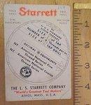 Starrett Screw Thread Calculator 1940's