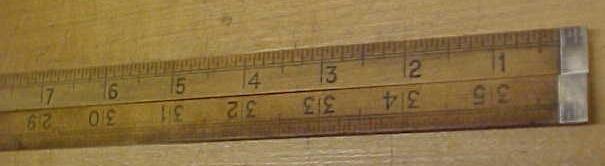 Lufkin Folding Rule 3 ft. No. 3851 Boxwood