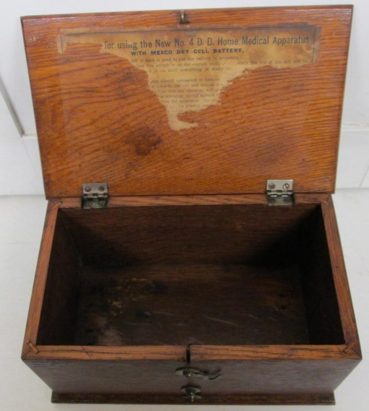Antique Oak Medical Battery Box CA 1900-1910