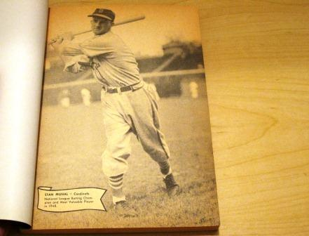 1949 MLB Facts and Figures featuring Lou Boudreau, Stan Musial, Ted Williams