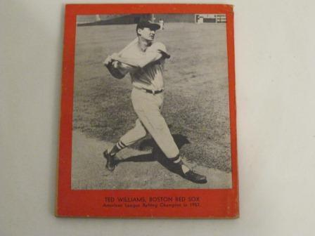1958 Who's Who in Baseball featuring Warren Spahn, Ted Williams, Mickey Mantel, and Hank Aaron