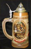 Budweiser Aging and Cooperage Lidded Beer Stein