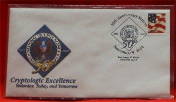 National Security Agency ( NSA ) 50th Anniversary Cover - 2002