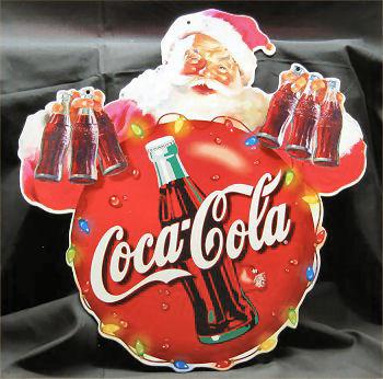 1980s Coca Cola Santa Cutout from Belgium