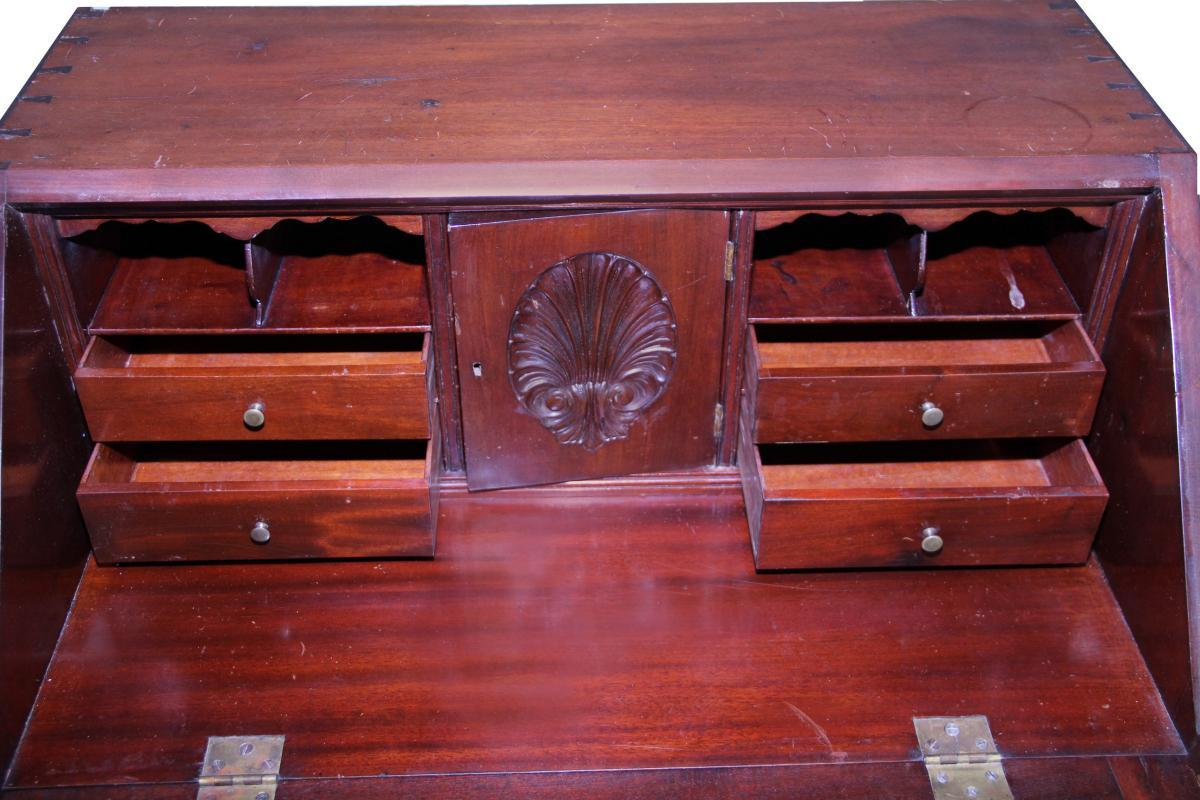 18260 Carved Mahogany Desk – Bench Made