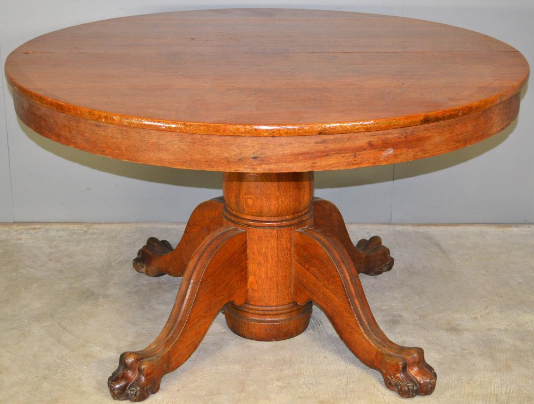 17779 Victorian Oak Split Base Dining Table