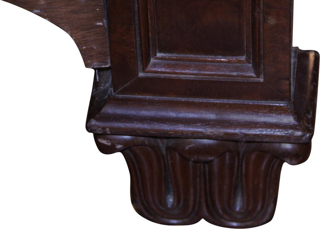 18295 French Empire Heavily Carved Bed