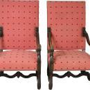 17731 Pair of Walnut Throne Chairs