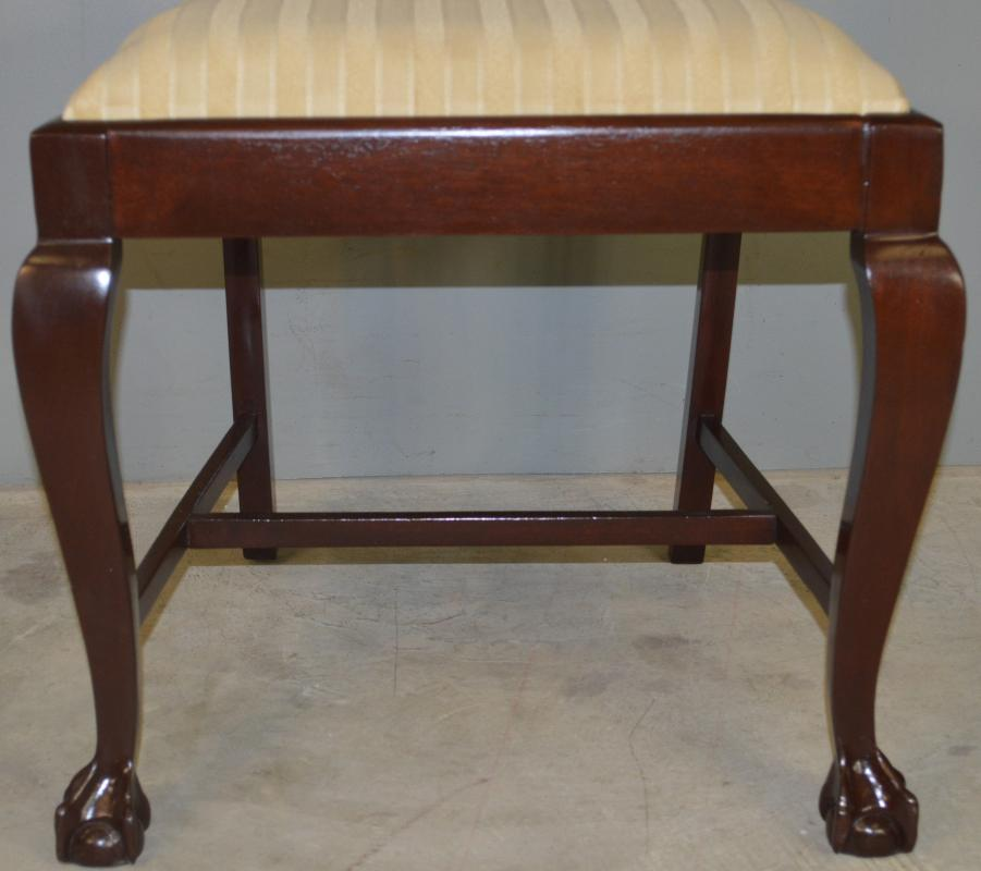 17233 Set of 6 Mahogany Ball and Claw Dining Chairs