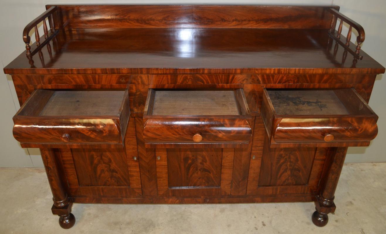 18721 Period Empire Flame Mahogany Sideboard
