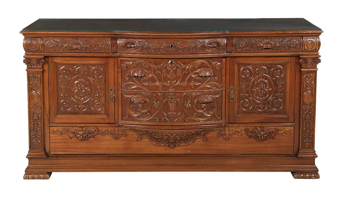 19880-S American Late Victorian Three-Piece Mahogany Dining Suite / Horner