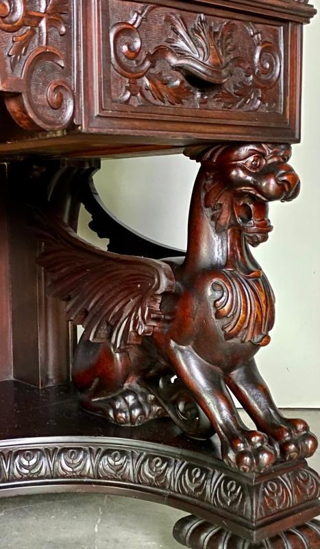19895 R.J. Horner Carved Mahogany Desk