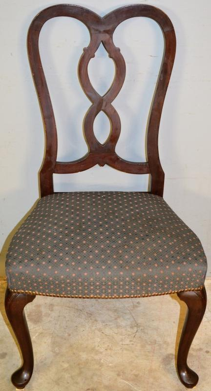 19568 Set of 10 Mahogany Pretzel Back Chippendale Chairs