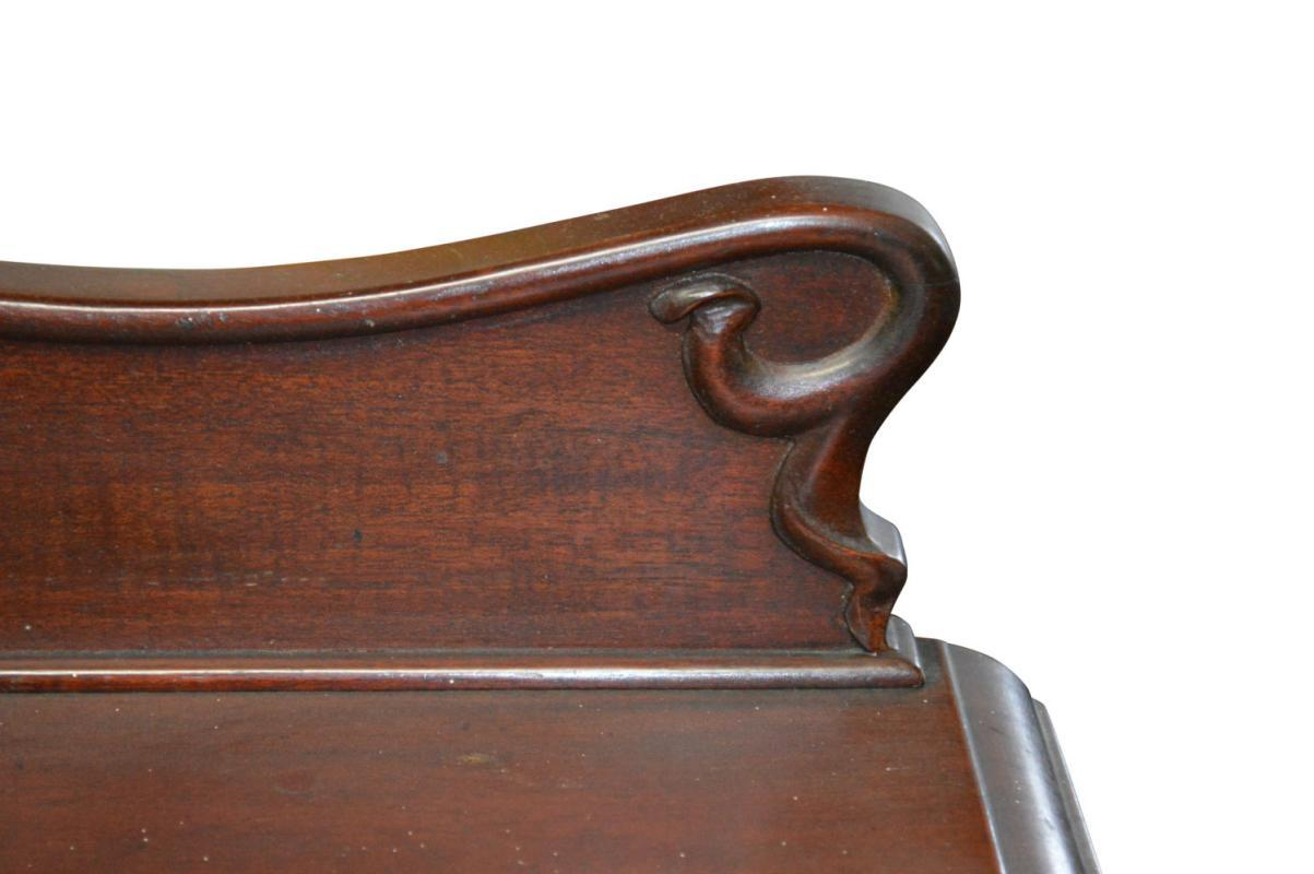 18198 Mahogany Art Nouveau Server - Unusual