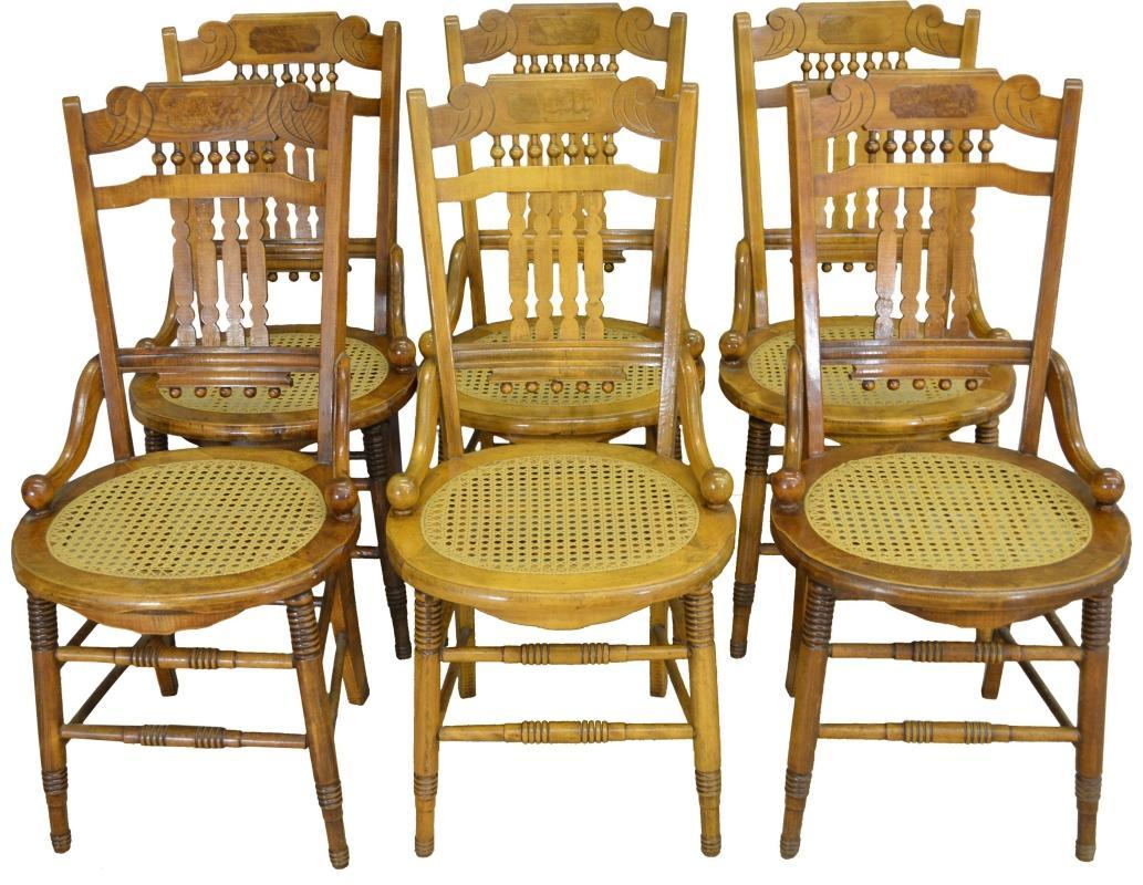 17365 Set of 6 Victorian Dining Chairs