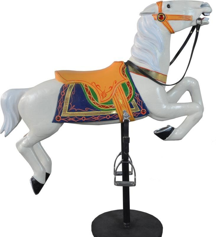 19855 Carved and Painted Herschell-Spillman Carousel Horse on Stand