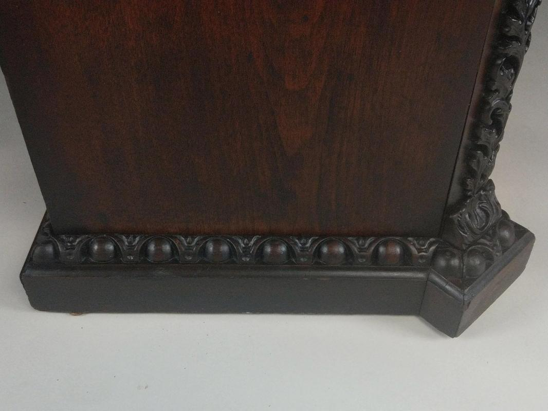 19835 Victorian Walnut Heavily Carved Half Commode Night Stand